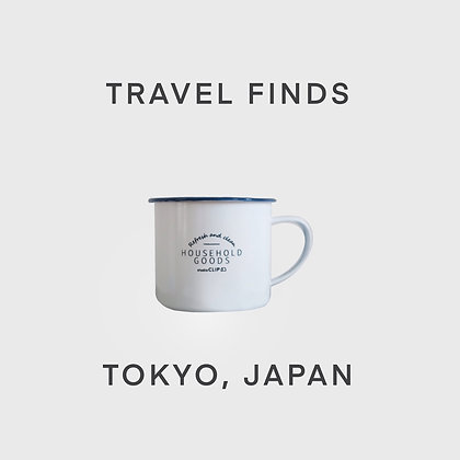 Travel Find: Enamel Mug (Tokyo, Japan)