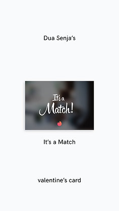 Postcard: It's a Match
