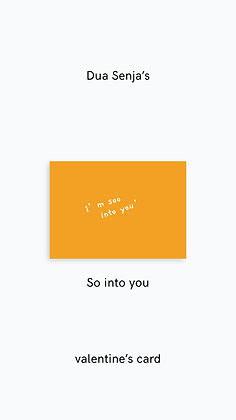 Postcard: I'm soo into you