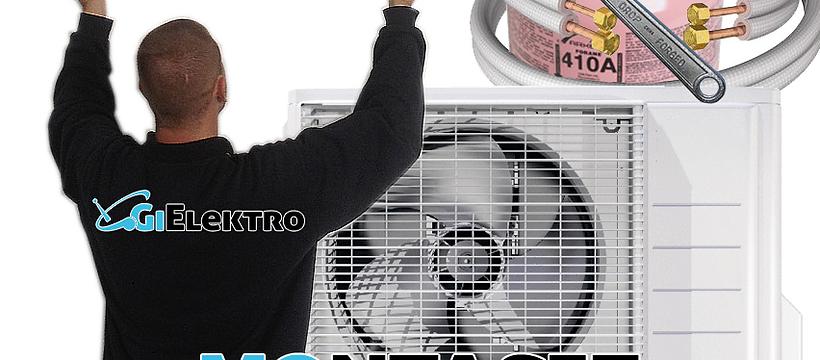 Montasje av varmepumpe