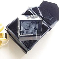 Presse-Papier Cube en Verre