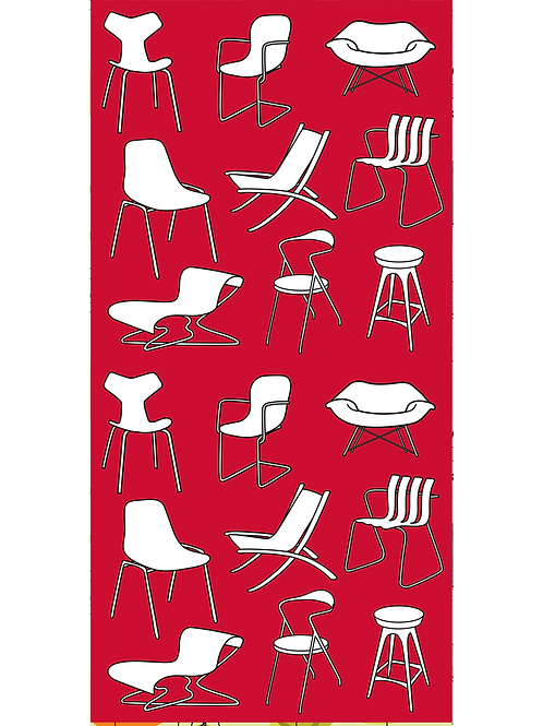 MCM Chairs on Red