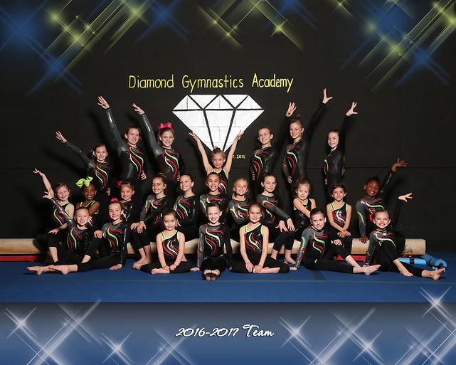 competition team of diamond gymnastics