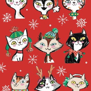 Holiday cats