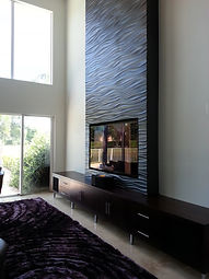 Modern TV Wall Unit Custom Cabinet