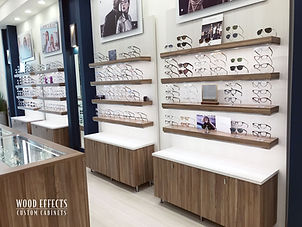 Eyeglass Retail Cabinet Display Custom Built