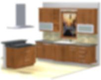 3D Rendering of Custom Kitchen Design