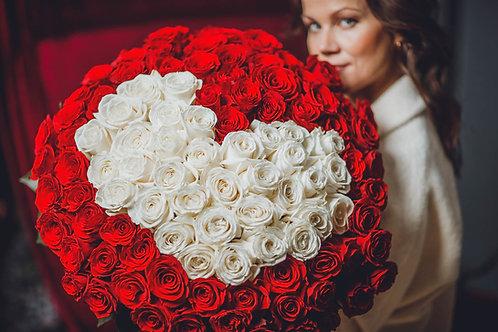 Rožu sirds (101 roze)