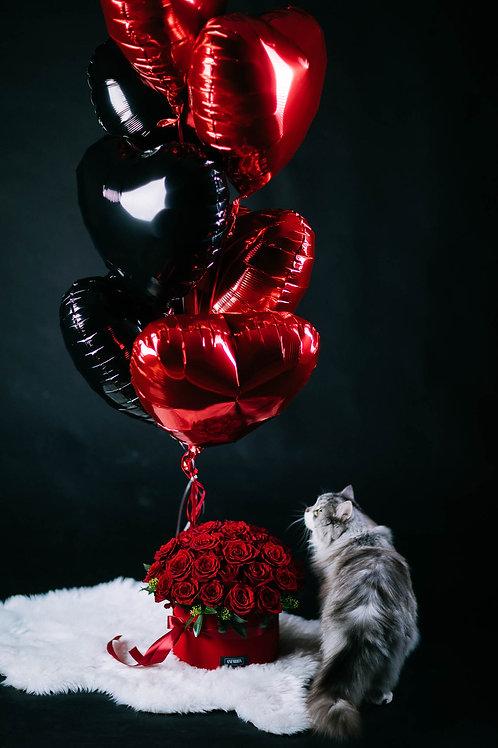 Flower box ar baloniem
