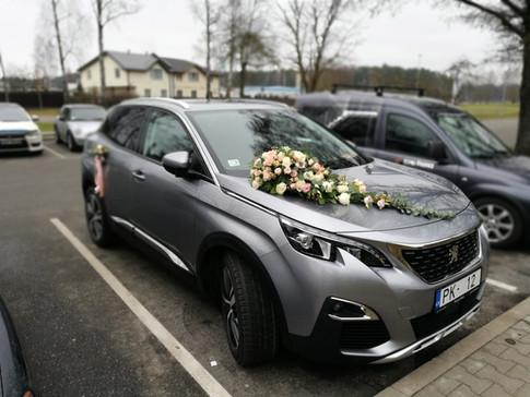 Auto dekors kāzām