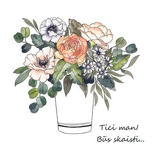 Flower box ar sezonāliem ziediem
