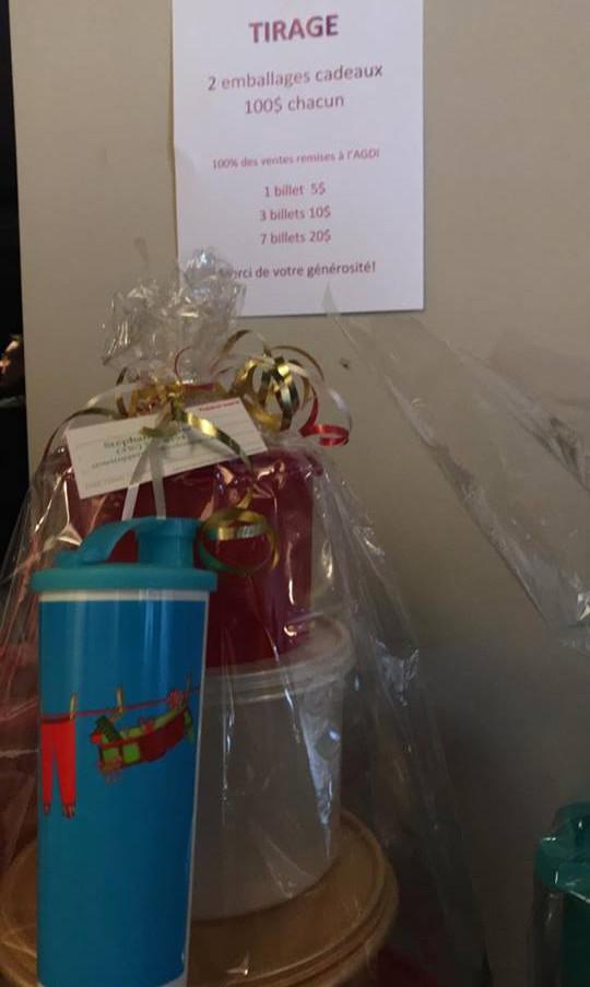Tirage emballage cadeau tupperware