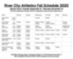 River City Athletics Fall 2020 Schedule