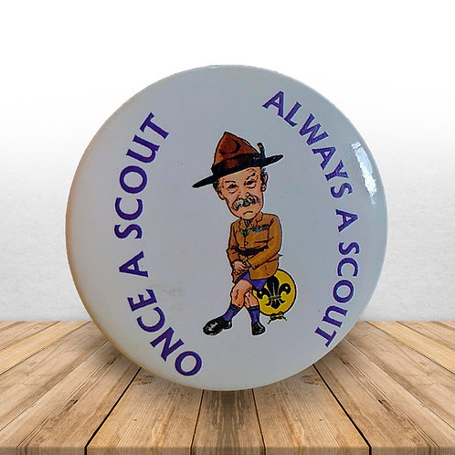 Once a Scout Always a Scout - Metal Badge