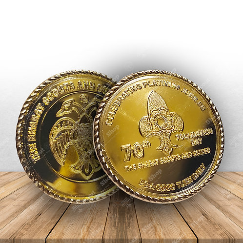 Foundation Day Coin Gold Coated
