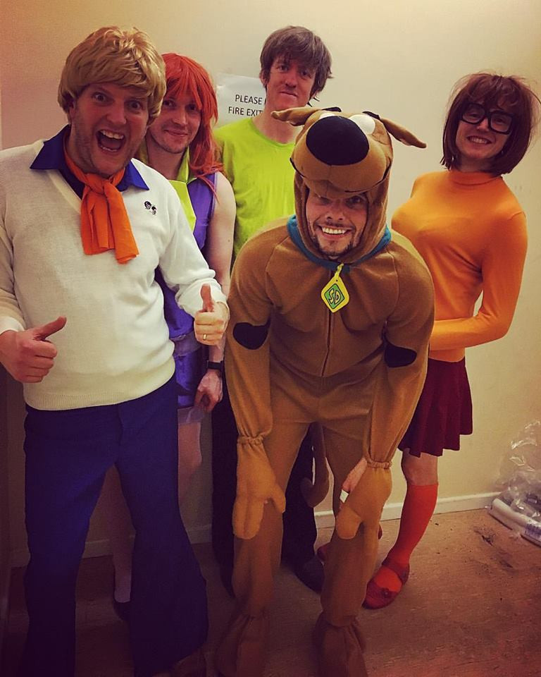 Manchester covers band Groovy Revolution dressed as the Scooby Doo gang for Halloween 2016