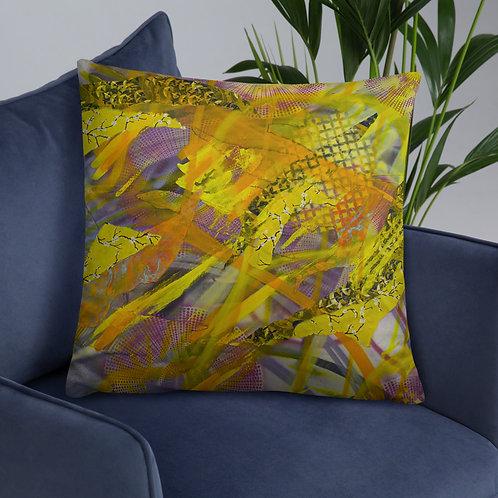Yellow Dream Throw Pillow