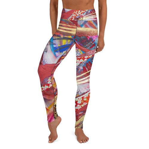 Red Dream Yoga Leggings (Women's Sizes)