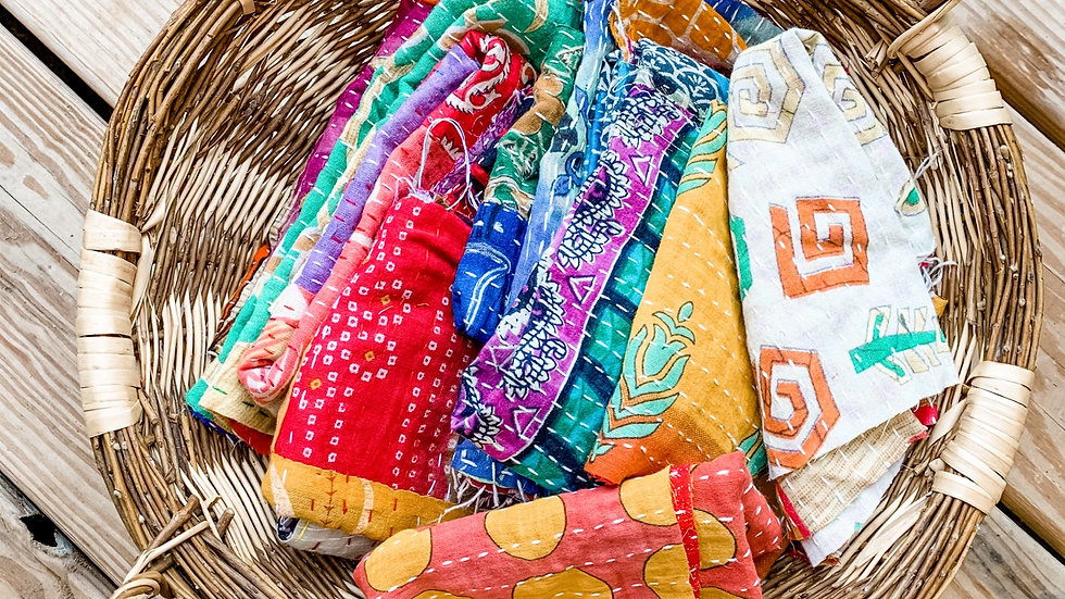 Crafters Paradise Kantha Scrap Fabrics