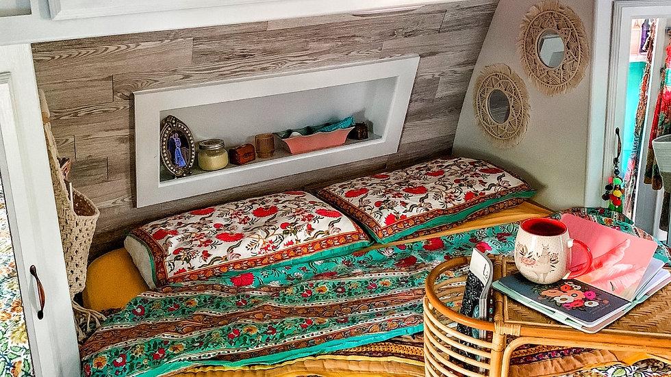 Reversible Organic Cotton Blockprint Warm Cozy Comforter
