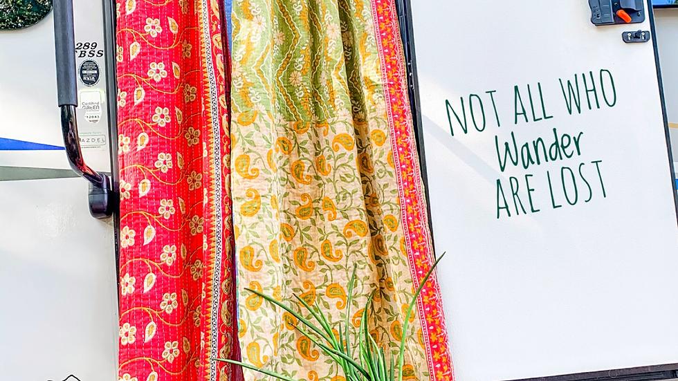 Reversible Vintage Fabric Kantha Blanket Curtains