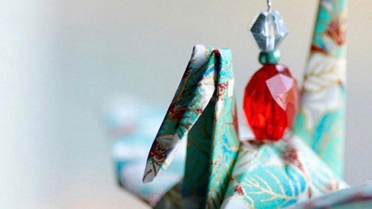 Handcrafted Origami Crane Ornament