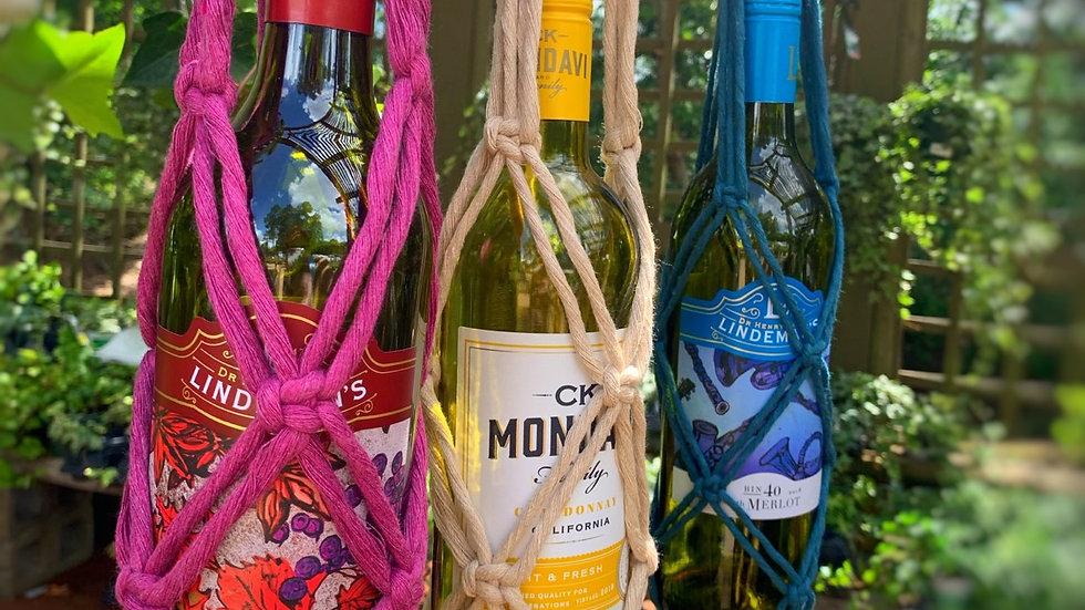 Macrame Wine Tote