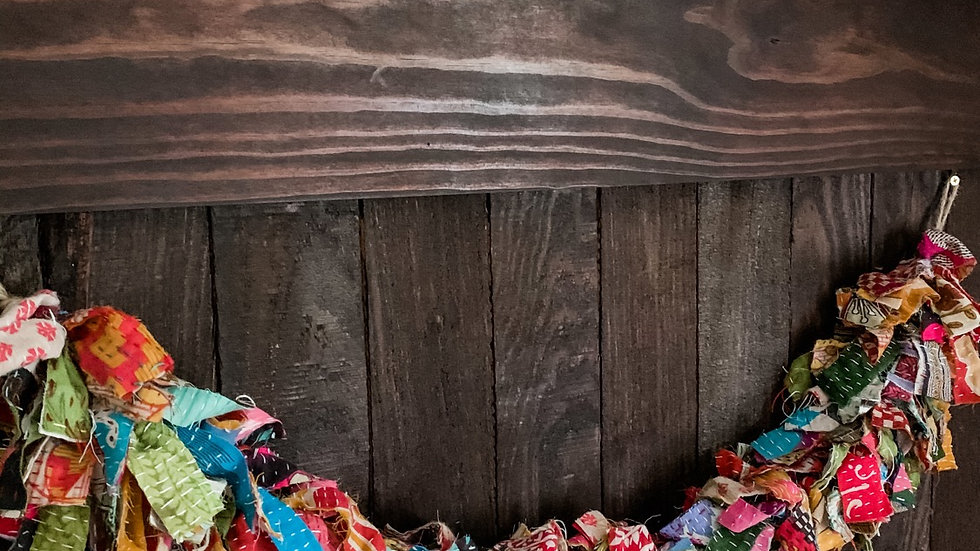 Kantha scrap fabric Garland 2'