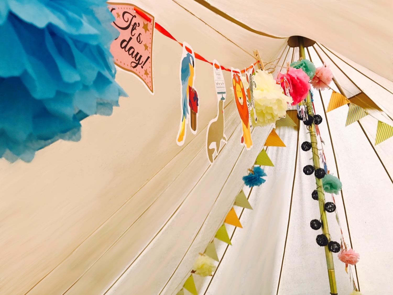 テント内装飾