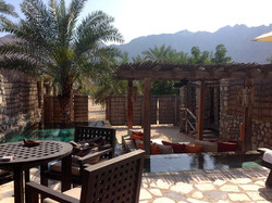 Terrasse der Bech Pool Villa