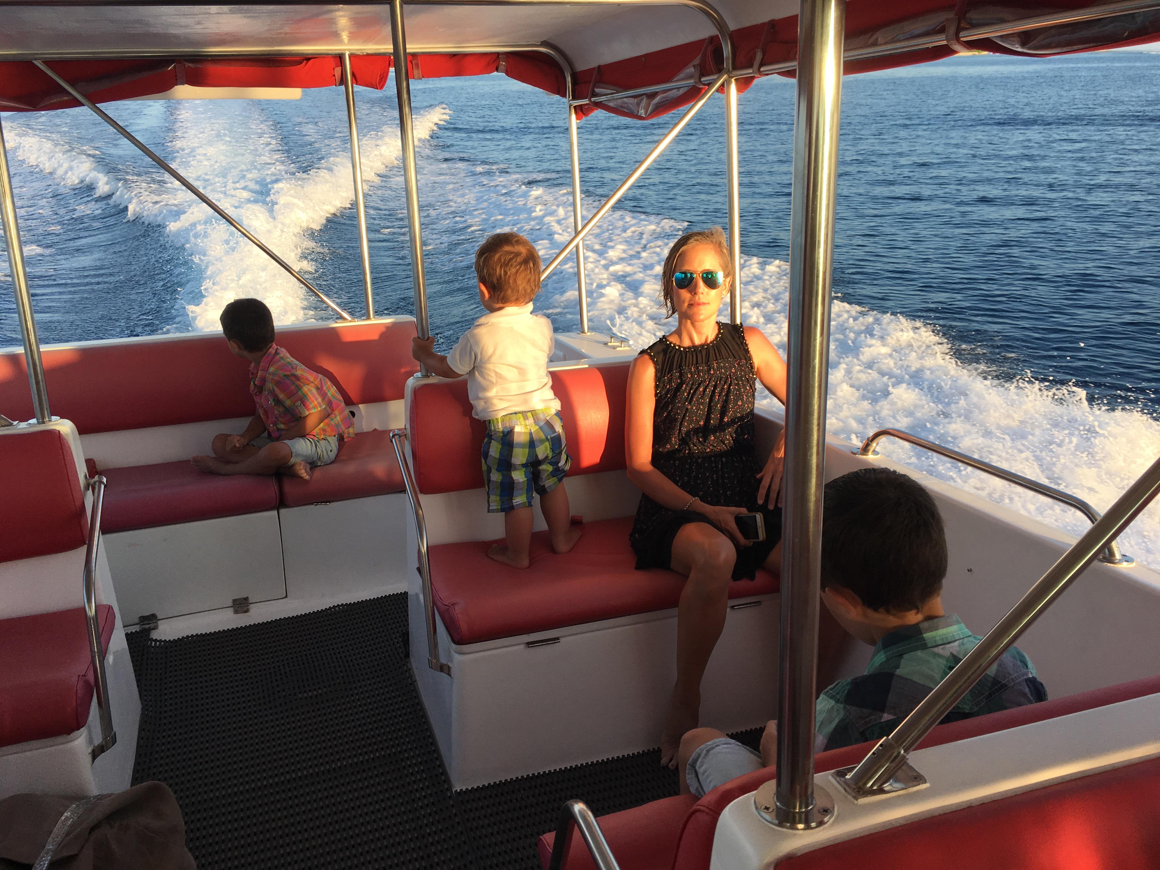 Bootsfahrt zum Edge