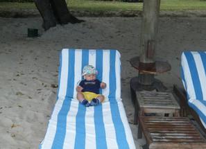 Mauritius mit Baby