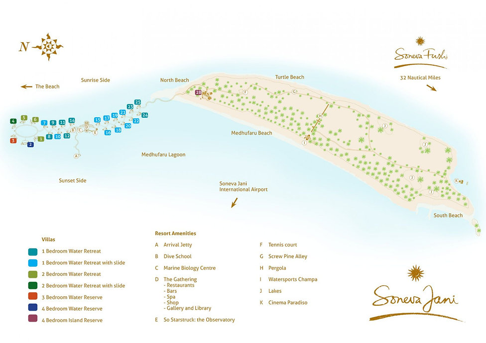 Resort Map Soneva Jani