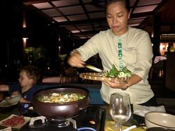 Vietnamesisches Hot Pot Dinner
