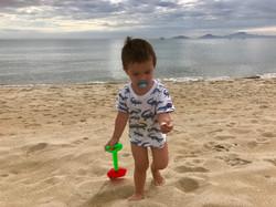 Sandspielen am Strand