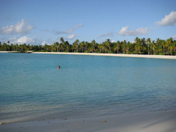 Einsames Baden in der Lagune