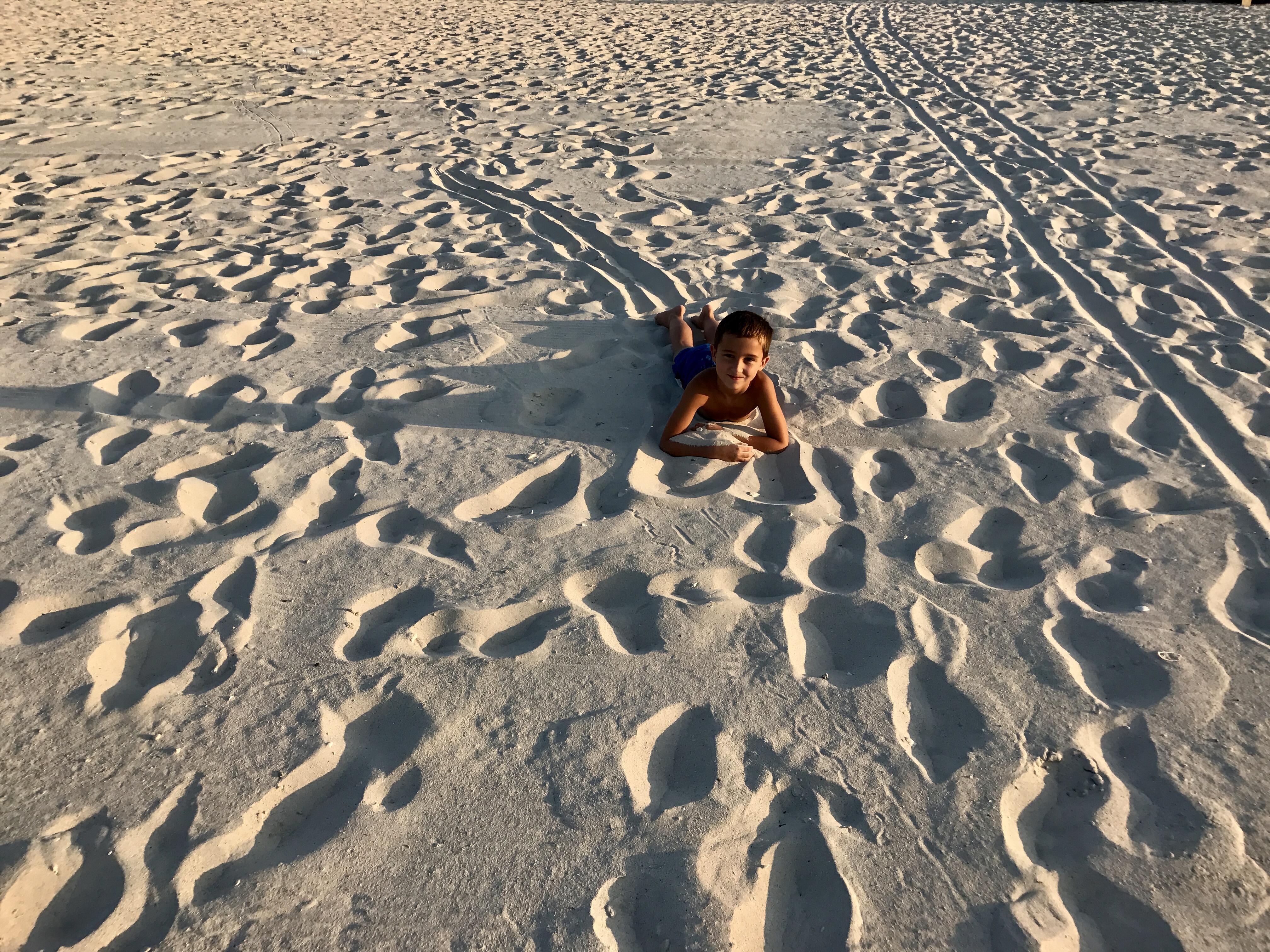 Puderzucker-Sand