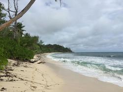 Traumhafter Strand vor den Villen