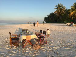 Privates Dinner auf einsamer Insel