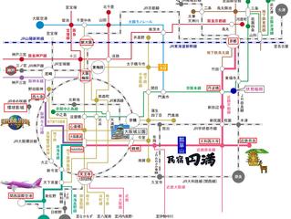 從圓滿到關西各地電車路線圖