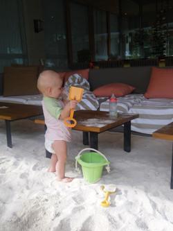 Traumhaft: überall feinster Sand!