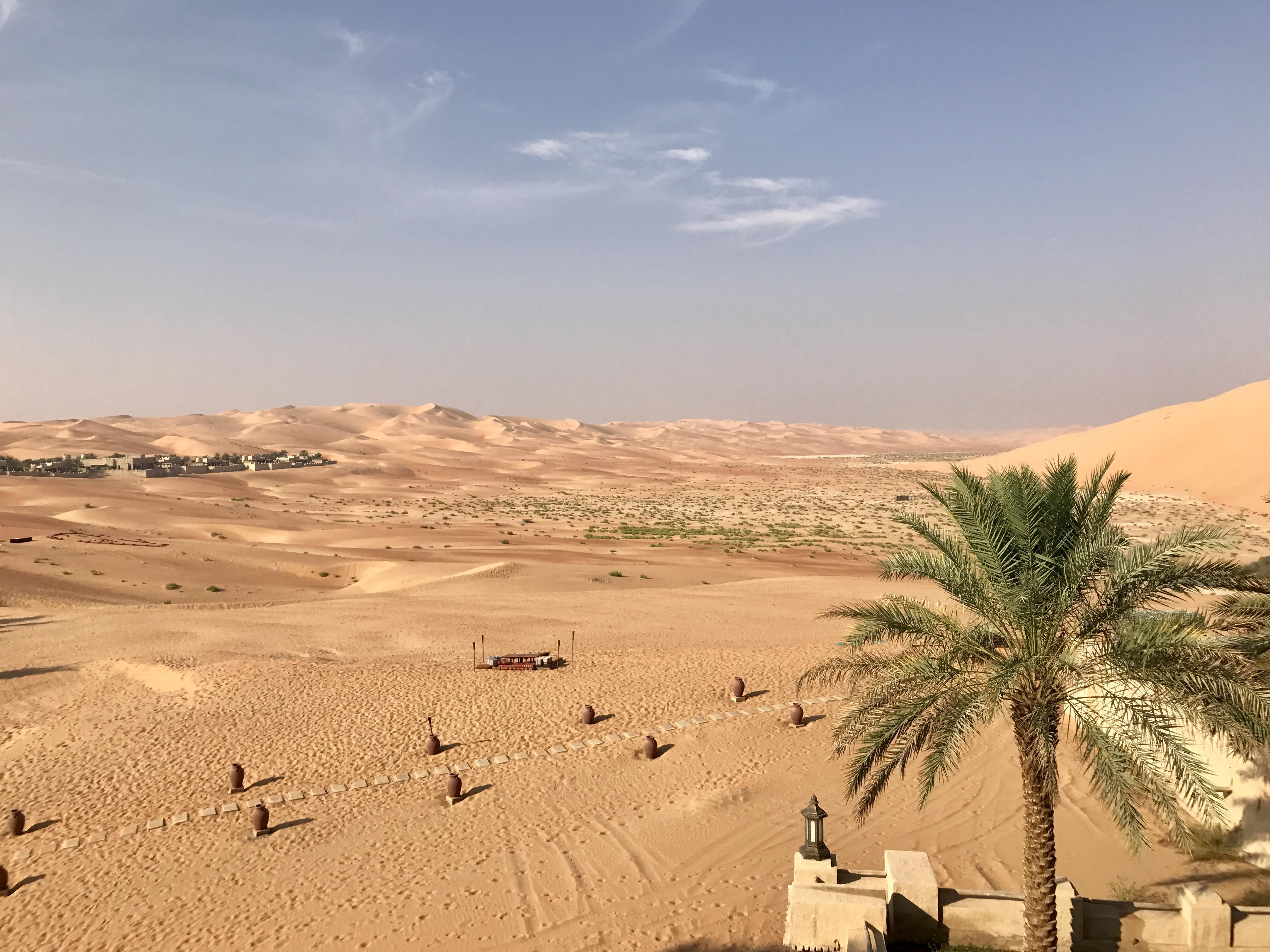 Blick über die Wüste vom Zimmer aus