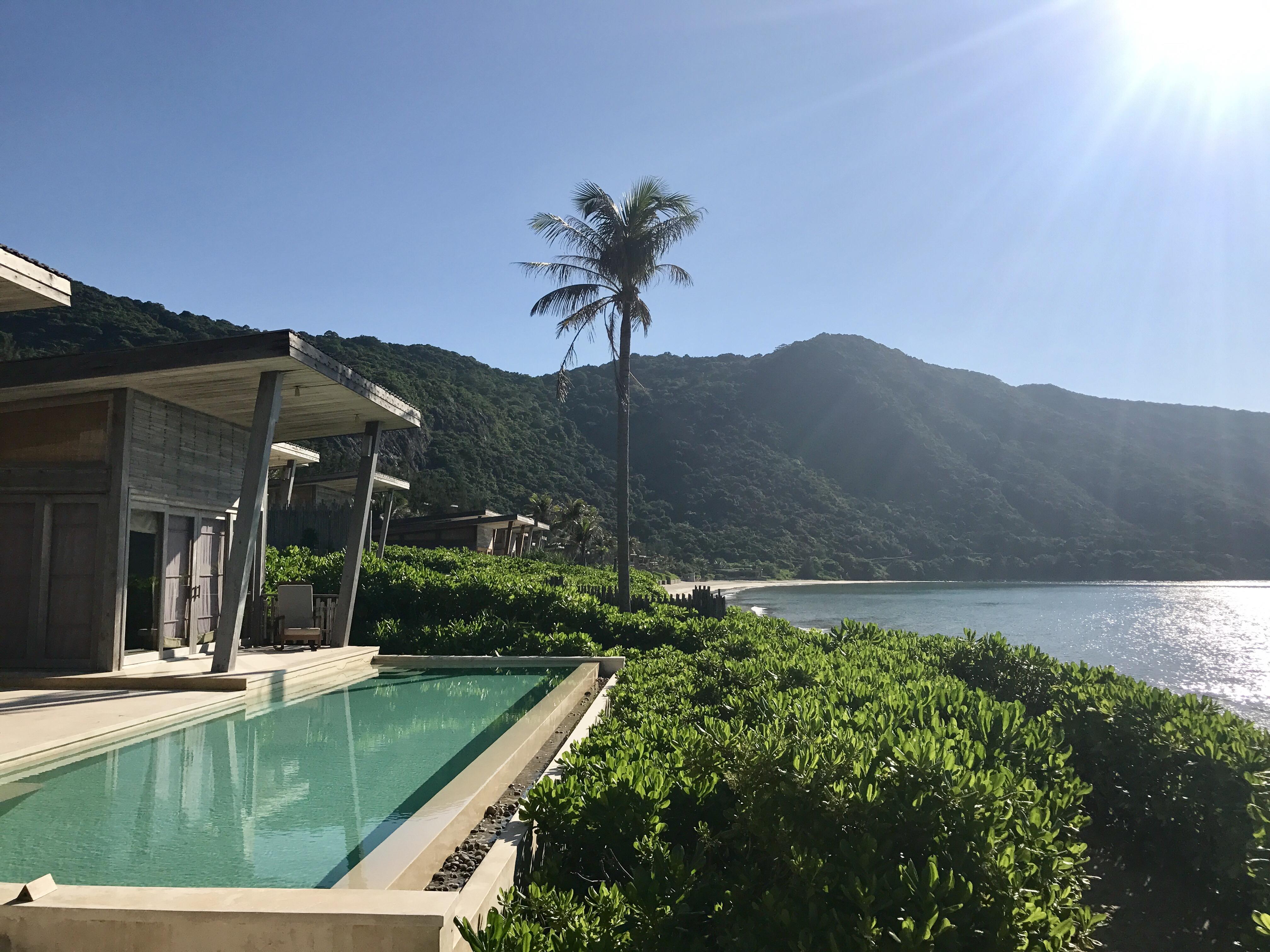 Blick von der Terrasse unserer Villa