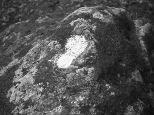 Pėda Mikytų akmenyje