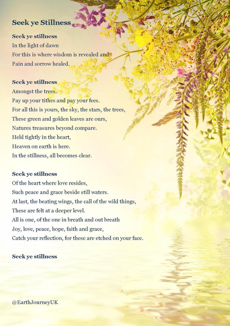 Seek ye Stillness