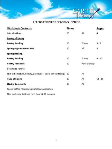 Spring Workshop Program