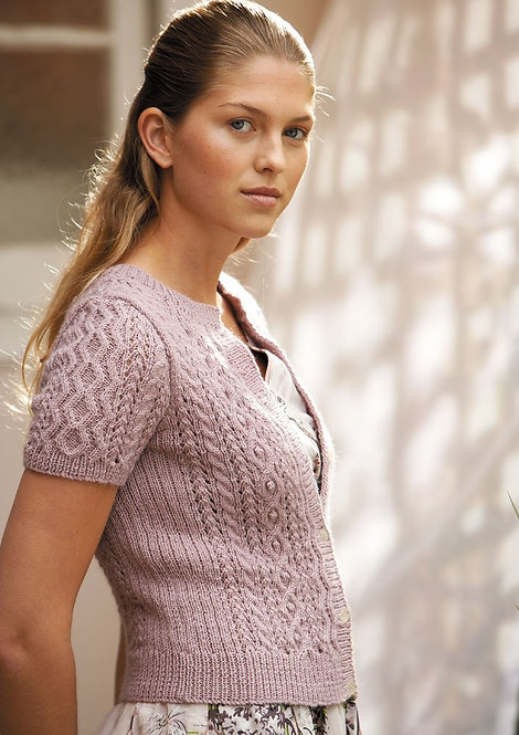 119 Lacey Cable Cardigan - digital download