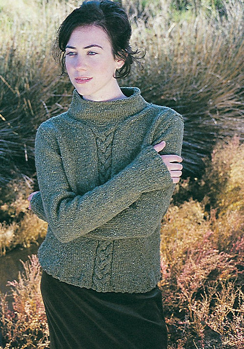 262 Rebecca Cable Sweater - digital download