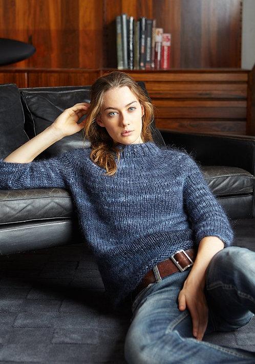 314 Blueberry Yoke Sweater - digital download