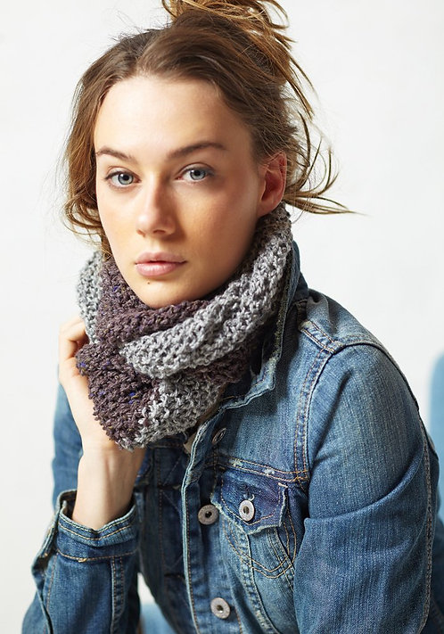300 Two Tone Moss Cowl -digital download
